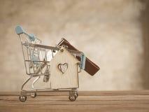 Piano di risparmio per la residenza della gente nella società Fotografie Stock Libere da Diritti