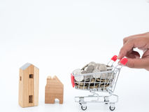 Piano di risparmio per la residenza della gente nella società Immagine Stock