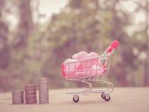 Piano di risparmio per la residenza della gente nella società Immagini Stock