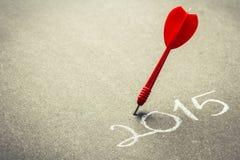 Piano 2015 di scopo Immagine Stock