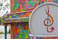 Piano dipinto nella vecchia città di Fort Collins Fotografia Stock Libera da Diritti