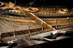 Piano disassemble Royalty Free Stock Photo
