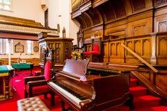 Piano door Altaar in Oude Kerk Stock Fotografie