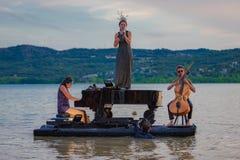 12/07/2019 Piano du lac Barasona royalty free stock photos