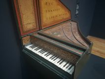 Piano of Dutch museum. Music, authentic stock image