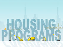 Piano e programma dell'abitazione di mezzi di programmi di alloggio Immagine Stock