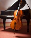 Piano e violoncelo Fotografia de Stock Royalty Free