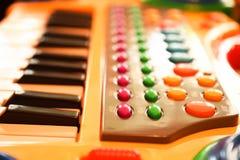 Piano eléctrico del juguete de los niños Fotos de archivo libres de regalías