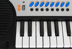 Piano electrónico fotografía de archivo