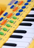 Piano elettrico del bambino Fotografie Stock