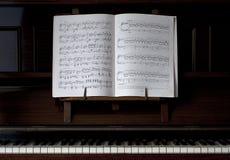 Piano en de Open Muziek van het Blad Royalty-vrije Stock Afbeelding