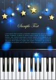 Piano en sterren Stock Afbeelding