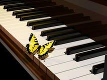 Piano en vlinder vector illustratie