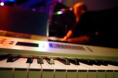 Piano en zanger Stock Foto