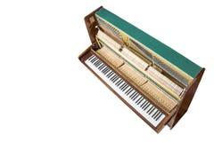 Piano ereto aberto isolado no branco Foto de Stock Royalty Free
