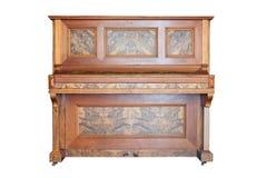 Piano ereto do vintage isolado no fundo branco fotos de stock royalty free