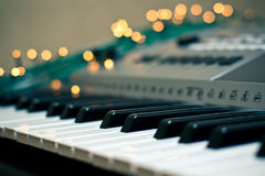 Piano et étincelles Image stock