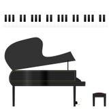 Piano et clés Images libres de droits