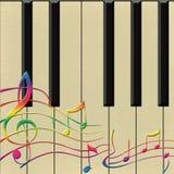 Piano et notes Illustration de Vecteur