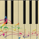 Piano et notes Photo libre de droits