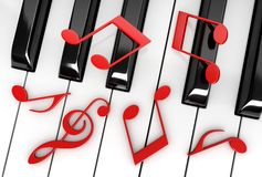 Piano et notes Illustration Stock