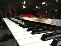 Piano för konsert royaltyfria bilder