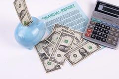 Piano finanziario Immagini Stock