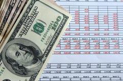 Piano finanziario Fotografia Stock