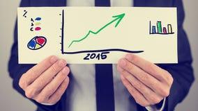 Piano finanziario di affari per 2015 Immagini Stock Libere da Diritti