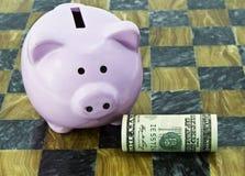 Piano finanziario femminile Fotografia Stock