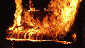 Piano on fire musical instrument stock video footage