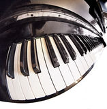 Piano fisheye key Stock Images