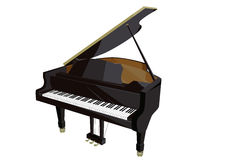 Piano flat illustration Stock Photo