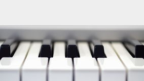 Piano in fornt view Stock Images