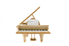 Piano front view Royalty Free Stock Photos