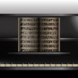 Piano front view close-up Royalty Free Stock Images