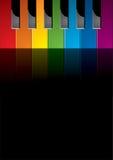 Piano gekleurde sleutels Stock Foto