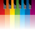 Piano gekleurde sleutels Royalty-vrije Stock Afbeeldingen