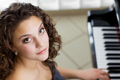 Piano girl Royalty Free Stock Image