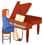 Piano girl Stock Photos