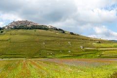 Piano Grande di Castelluccio (Italia) Fotografia Stock