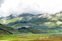 Piano Grande di Castelluccio (Italie) Photo stock