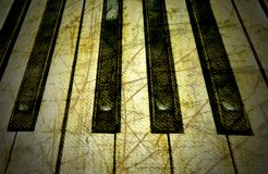 Piano grunge Photo stock