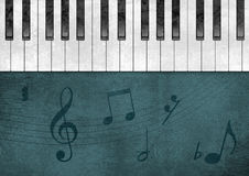 Piano Grunge Background Royalty Free Stock Photography