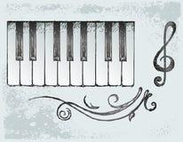 Piano. Grunge style. Vector illustration royalty free illustration
