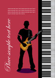 Piano with guitar Royalty Free Stock Images