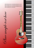 Piano with guitar Royalty Free Stock Image