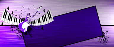 Piano and guitar background Royalty Free Stock Image