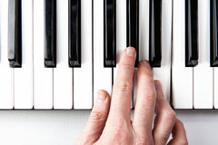Piano Hand Stock Photography
