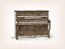 Piano hand drawn sketch style vector Stock Photo